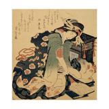 Reading, C1822 Giclee Print by Katsushika Hokusai