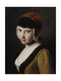 A Girl with a Black Mask, Mid 18th Century Giclee Print by Pietro Rotari