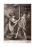 'The Enraged Macaroni, 1773 Giclee Print by Philip Dawe