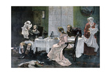 The Luncheon of Camille Desmoulins, 1892 Giclee Print by Leopold Flameng