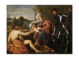 Madonna and Child, Saint John the Baptist and Saint George, Early 1530S Giclee Print by Paris Bordone