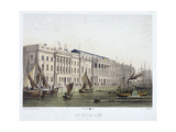 Custom House and River Thames, London, 1854 Giclee Print by Louis Julien Jacottet