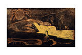 Te Po. La Grande Nuit (From the Series Noa No), 1893-1894 Giclee Print by Paul Gauguin