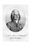 Charles Maurice De Talleyrand-Perigord, French Diplomat, 19th Century Giclee Print by  Langlume