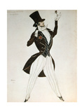 Florestan, Design for a Costume for the Ballet Carnival Composed by Robert Schumann, 1919 Giclee Print by Leon Bakst