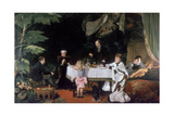The Luncheon in the Conservatory, 1877 Giclee Print by Louise Abbema