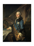 Portrait of the Marquis of Marigny, 1755 Giclee Print by Louis Tocque