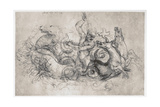 Neptune, C1504 Giclee Print by  Leonardo da Vinci