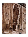 Entrance to the Mosque of Sultan Hassan, 1928 Giclee Print by Louis Cabanes