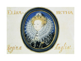 Miniature of Elizabeth I (1533-160) Queen of England and Ireland (1558-160) Giclee Print by Nicholas Hilliard