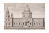 St Paul's Cathedral Exterior, C1750 Giclee Print by Nathaniel Parr