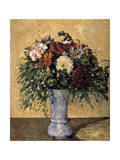 Flowers in a Blue Vase, 1873-1875 Giclee Print by Paul Cézanne
