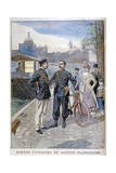 A Cycle and Water Police Officer, Paris, 1900 Giclee Print by Oswaldo Tofani