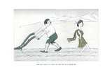 Robert Burns, Having Set His Hand to the Plough, Looks Back at Highland Mary, 1904 Giclee Print by Max Beerbohm