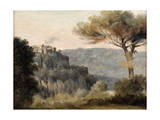 The Village of Nemi, Late 18th-Early 19th Century Giclee Print by Pierre Henri de Valenciennes