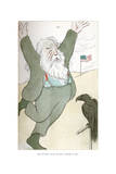 Walt Whitman, Inciting the Bird of Freedom to Soar, 1904 Giclee Print by Max Beerbohm