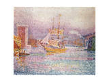 The Harbour at Marseilles, 1907 ジクレープリント : ポール・シニャック