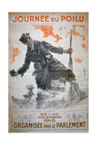 Journée Du Poilu 25 Et 26 Décembre 1915, French World War I Poster, 1915 Giclee Print by Maurice Neumont