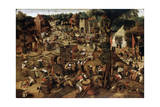 Fair with a Theatrical Performance, C1580-1630 Reproduction procédé giclée par Pieter Brueghel the Younger
