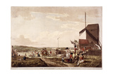 Encampment on Blackheath, Greenwich, London, 1780 Giclee Print by Paul Sandby