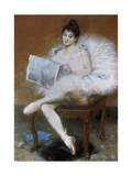 Sitting Ballet Dancer, 1890 Giclee Print by Pierre Carrier-belleuse