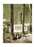 Entrance to the Muhammad Ali Mosque, Cairo, Egypt, 1928 Giclee Print by Louis Cabanes
