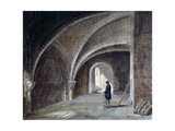 Crypt under the Church of St James in the Wall, Wood Street Square, City of London, 1855 Giclee Print by Percy William Justyne