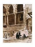 The House of the Qadi (Beit El-Qad), Cairo, Egypt, 1928 Giclee Print by Louis Cabanes