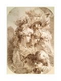 Studies of Eight Heads, Late 18th or Early 19th Century Giclee Print by Mauro Gandolfi