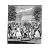 The Beau Monde in St James's Park, 1750 Giclee Print by LP Boitard
