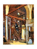 Interior of the Al-Mu'Ayyad Mosque, Cairo, Egypt, 1928 Giclee Print by Louis Cabanes