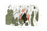 Robert Browning, Taking Tea with the Browning Society, 1904 Giclee Print by Max Beerbohm