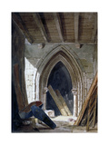 Crypt of St Anne, Blackfriars, City of London, 1854 Giclee Print by Percy William Justyne