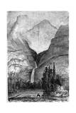 Yosemite Falls, California, 19th Century Giclee Print by Paul Huet