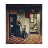 Woman with a Child in a Pantry, C1660 Giclée-trykk av Pieter de Hooch