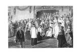 Coronation of Louis XV, 1715 Giclee Print by  Moreau