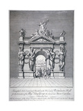 Triumphal Arch on the West End of Westminster Hall, London, 1727 Giclee Print by Pierre Fourdrinier