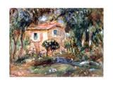 Landscape, Le Cannet, 1902 Giclée-tryk af Pierre-Auguste Renoir
