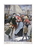 Departure of the Cod-Fishing Boats from Dunkirk, 1900 Giclee Print by Oswaldo Tofani