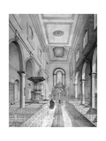 Interior of St Bartholomew-By-The-Exchange, City of London, C1835 Giclee Print by Nathaniel Whittock