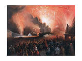 Coronation Fireworks in Moscow, 1856 Giclee Print by Pharamond Blanchard