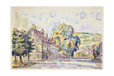 Street with a Frame House in Normandy, C1925 Giclee Print by Paul Signac