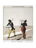 L'Ordre Et La Constitution, 1871, from Series 'Les Silhouettes De 1871', Paris Commune Giclee Print by  Moloch