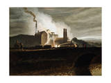Industrial Landscape, Wales, 19th Century Giclee Print by Penry Williams