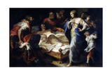 Antiochus and Stratonice, 17th or Early 18th Century Giclee Print by Luca Giordano