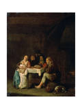 The Prayer before Dinner, 17th Century Giclee Print by Pieter Meulener