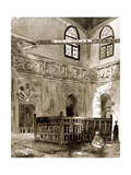 Tomb in a Mosque, Cairo, Egypt, 1928 Giclee Print by Louis Cabanes