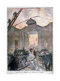 Fire at the Opera, Paris, 1894 Giclee Print by Oswaldo Tofani