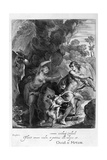 Orpheus, Leading Eurydice Out of Hell, Looks Back Upon Her and Loses Her Forever, 1655 Giclee Print by Michel de Marolles