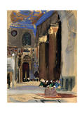 Interior of the Sultan Kalaoun Mosque, Cairo, Egypt, 1928 Giclee Print by Louis Cabanes